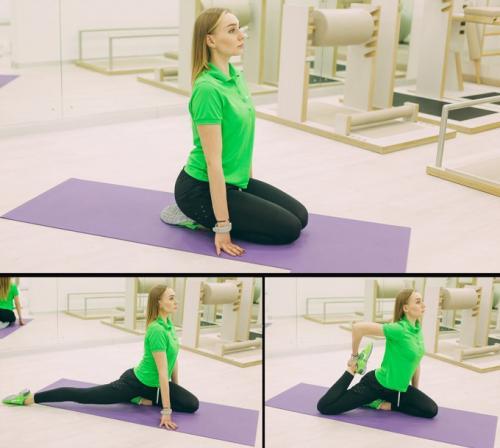 Упражнения, как сесть на шпагат.
