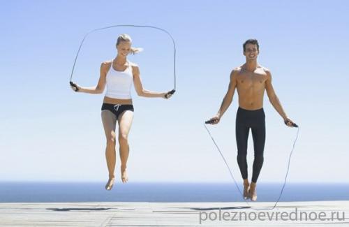 Польза прыжков на скакалке для женщин. Плюсы