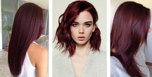 Бургундский цвет волос. Кому подходит бургундский цвет волос и как получить нужный оттенок 19