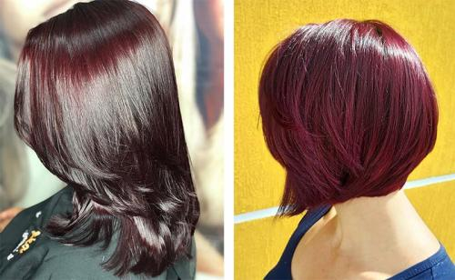 Бургундский цвет волос. Кому подходит бургундский цвет волос и как получить нужный оттенок 24