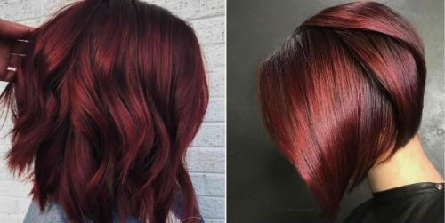 Бургундский цвет волос краска. Цвет волос бургунди: какой он