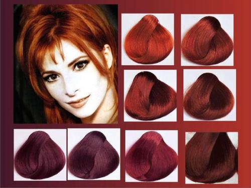 Бургундский цвет волос. Кому подходит бургундский цвет волос и как получить нужный оттенок 01