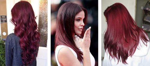 Бургундский цвет волос. Кому подходит бургундский цвет волос и как получить нужный оттенок 21