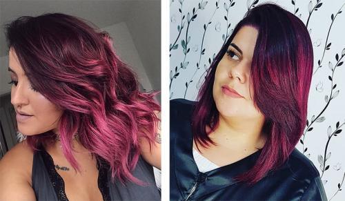Бургундский цвет волос. Кому подходит бургундский цвет волос и как получить нужный оттенок 25