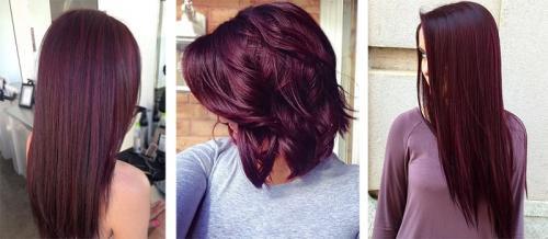 Бургундский цвет волос. Кому подходит бургундский цвет волос и как получить нужный оттенок 20