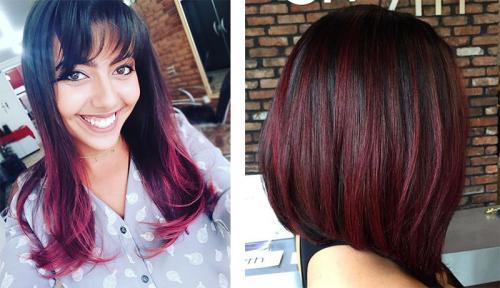 Бургундский цвет волос. Кому подходит бургундский цвет волос и как получить нужный оттенок 26