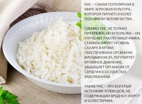 Калорийность риса. Рис белый вареный