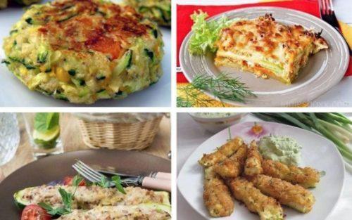 Диетические блюда из кабачков. 5 потрясающих диетических блюд с кабачком