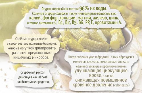 Сколько калорий в 100 гр огурцах свежих. Огурец солёный