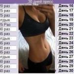 Таблицы упражнений на основные группы мышц!