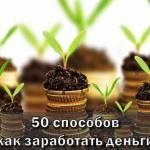 Как заработать деньги - 50 способов которые могут принести хороший доход.