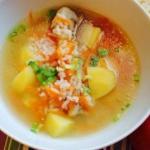Куриный суп с рисом?