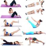Упражнения для плоского живота!